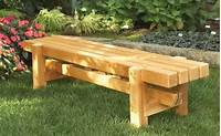how to build a wood bench Benches Outdoor Plans
