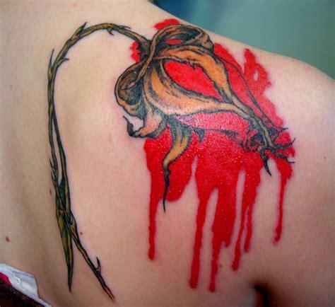 The flower motifs trope as used in popular culture. Pink Floyd Bleeding Rose by ~Merylwitch | Pink floyd ...