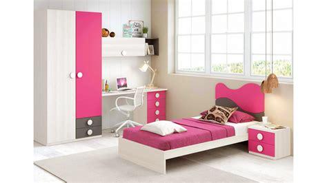 chambre fille but chambre fille de couleur peps avec lit 1 personne