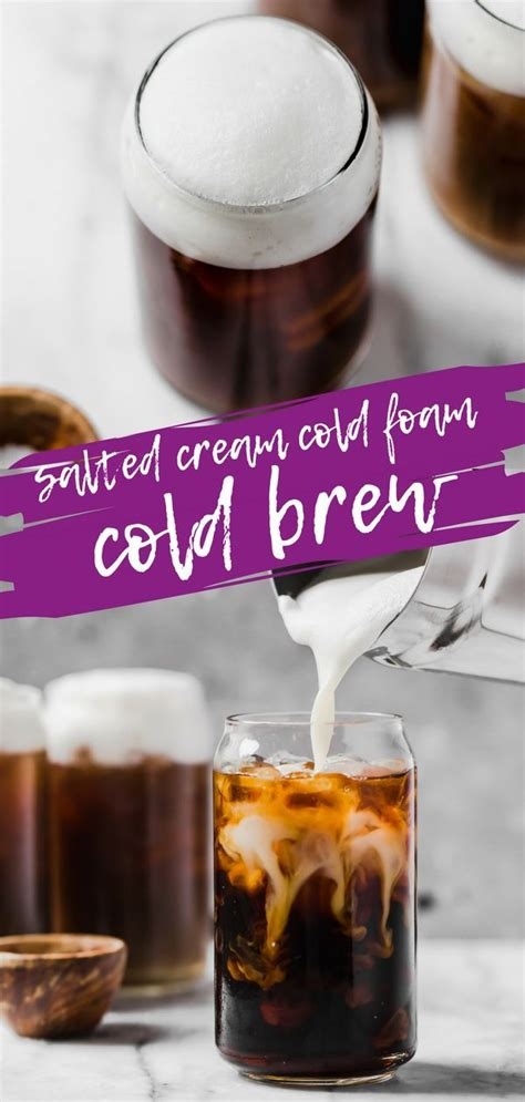Sweetened condensed milk and a hint of chocolate lend a special touch. Salted cream cold foam cold brew coffee | Recipe | Cold ...