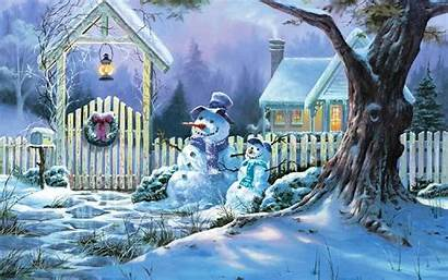 Christmas Snow Scene Scenes Wallpapers Alcohol Alcool
