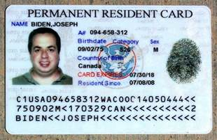 Fake Permanent Resident Card