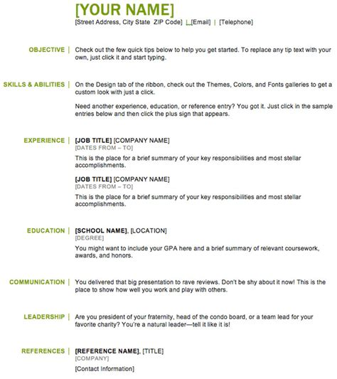 Basic Resume Exles For by 44 Basic Resume Template Free