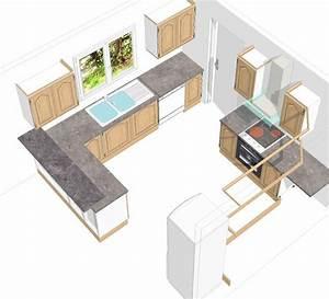 Plan De Cuisine 3d : les projets implantation de vos cuisines 8903 messages ~ Nature-et-papiers.com Idées de Décoration