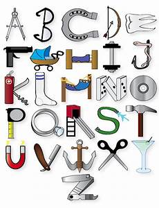 Object alphabet by funkymonkey1961 on deviantart for Alphabet letters with objects