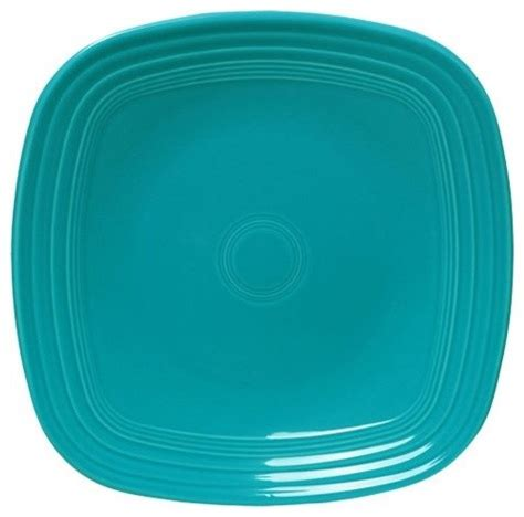 square turquoise dinnerware fiesta turquoise square dinner plate set of 4 contemporary dinner plates by hayneedle