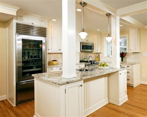 kitchen islands with posts installing load bearing beam houzz
