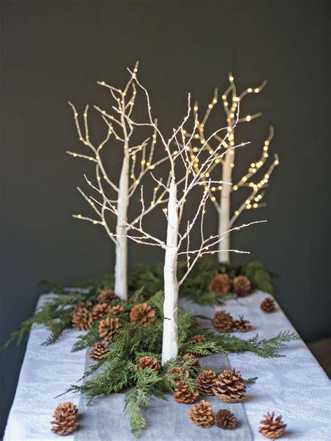 decorative indoor birch tree  micro led lights