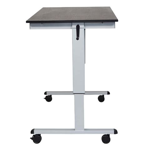 luxor stand up desk luxor adjustable height stand up desk silver and black