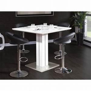 Table Haute 4 Personnes : sandro table bar carr e 4 personnes 100x100 cm laqu ~ Melissatoandfro.com Idées de Décoration