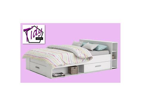 lit adulte 140 rangement tiroir blanc ch 234 ne clair moderne