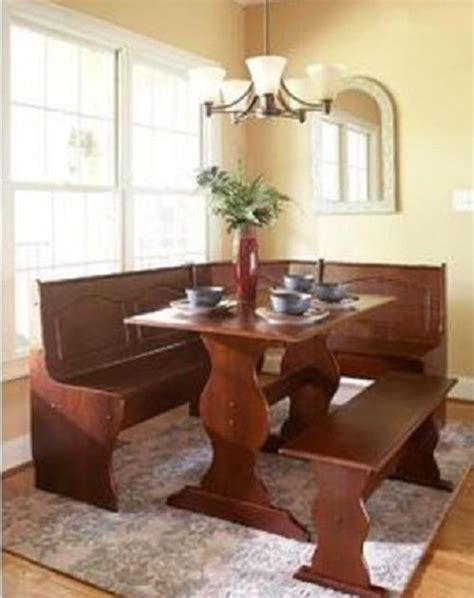 adorable  affordable dining room booth set