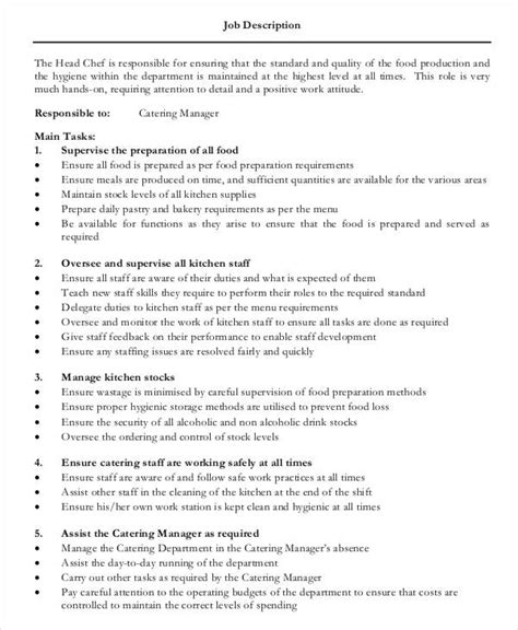 kitchen chef job description chef de partie job description   jpg cb   sous