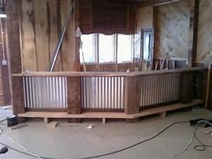 Corrugated metal bar design (via Dondi): Corrugated Metal