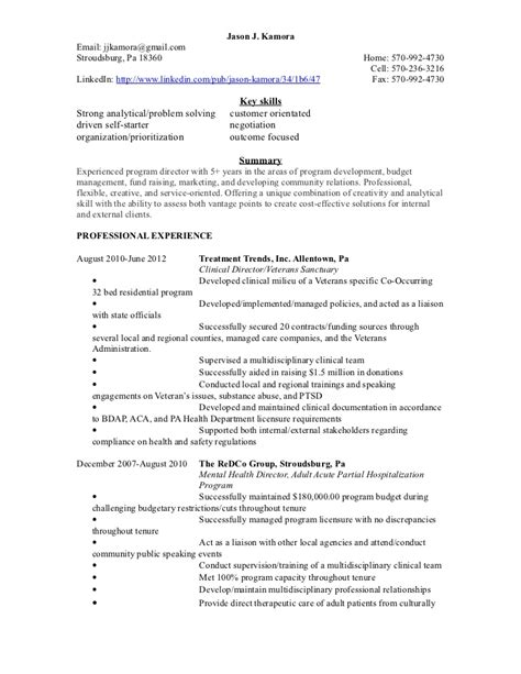 director manager supervisor consultant resume