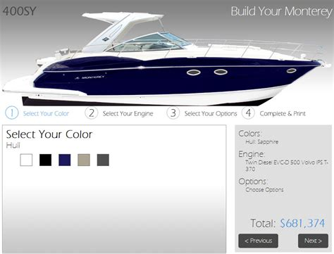 Boat Tools by New Build A Monterey Boat Web Tool Marine Marketing Tools
