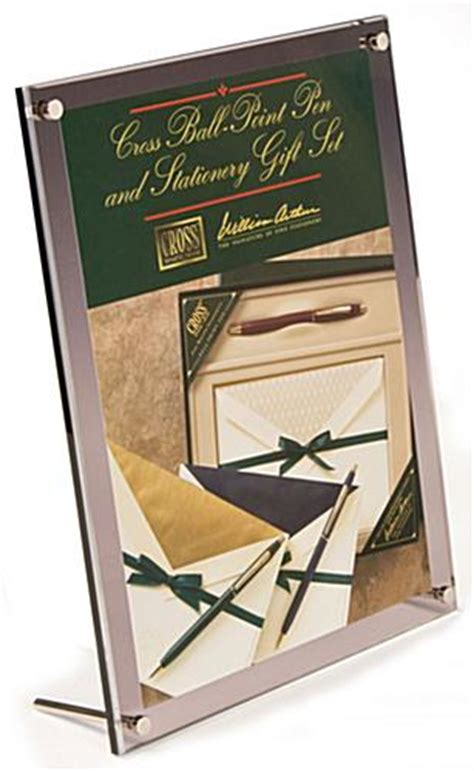 Tabletop Picture Holder by 8 5 Quot X 11 Quot Tabletop Picture Frame W Standoff Binding Screws