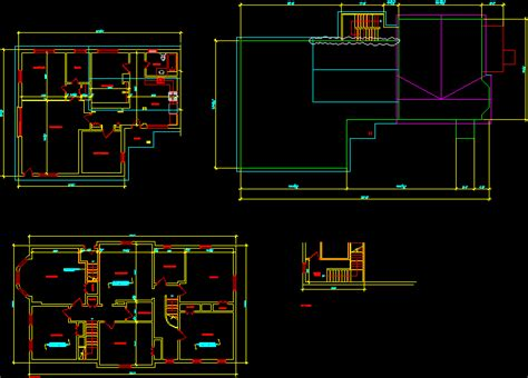 residential building layout  autocad cad  kb bibliocad