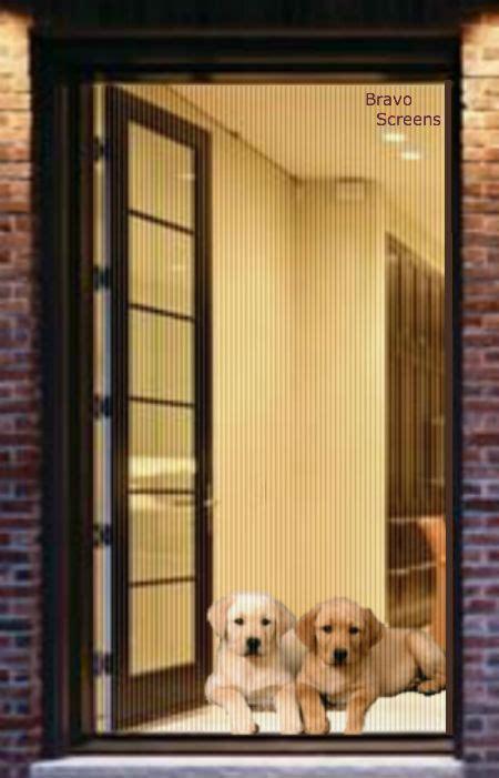 retractable pet screen single door custom  fit  doors