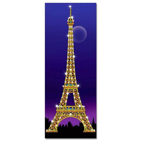 paillettenbild eiffelturm