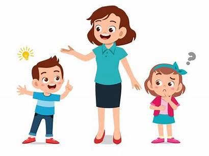 Parent Kid Help Teach Talking Child Teaching