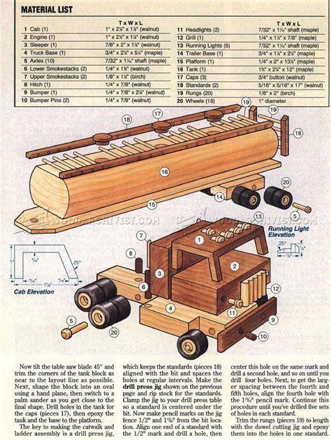 wooden toy tanker truck plans woodarchivist