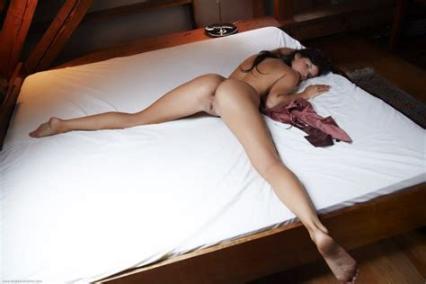 Ines Naked On Belly Legs Spread