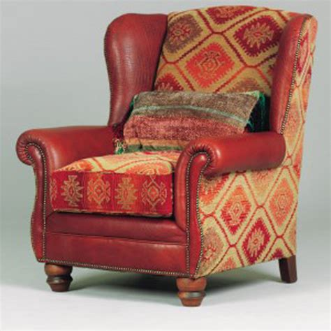 fauteuil anglais eastwood cuir buffle et tissus longfield 1880