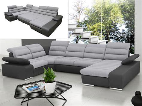 canapé d angle panoramique canapé d 39 angle panoramique convertible gris ou bleu boileau
