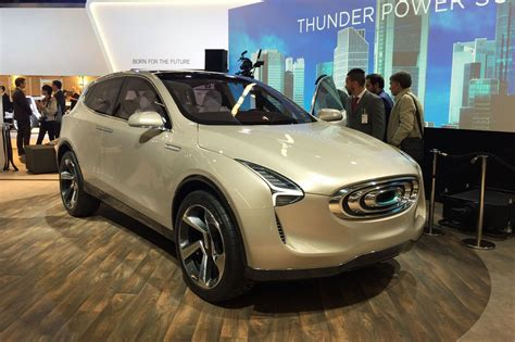 New All Electric Cars by Thunder Power Electric Cars At The 2017 Frankfurt Motor
