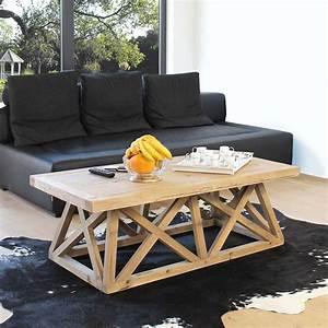 Made Com Table Basse : table basse avec plateau et pieds en bois ~ Dallasstarsshop.com Idées de Décoration