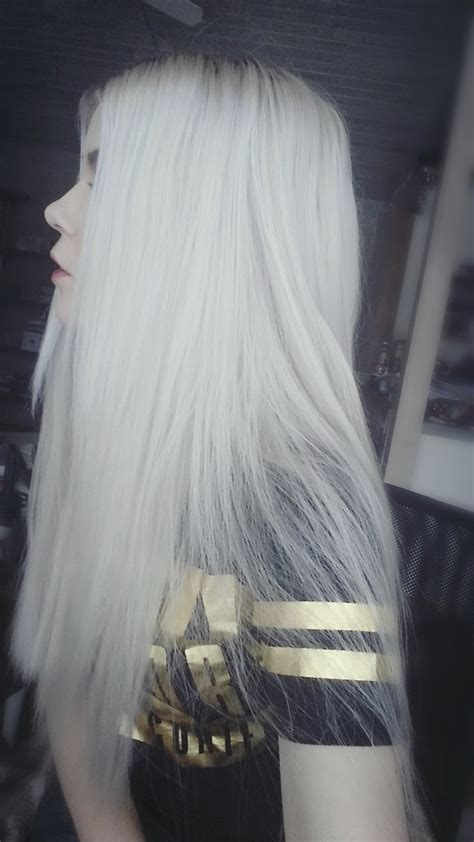 Silver Hair Long And Straight Hair Colors Ideas