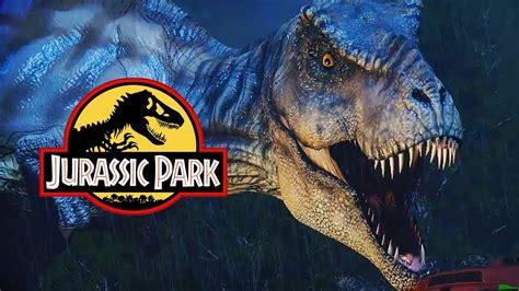 rexy breaks    jurassic park scene  rex