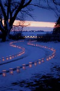 lighted luminary driveway traditional landscape With outdoor christmas lights for driveway