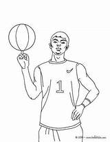 Coloring Basketball Players Sports Khet Min Player sketch template