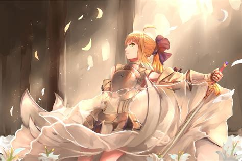 Full Screen Hd Wallpaper Anime Fate Stay Night Saber Lily Sword Fate Series Wallpapers Hd Desktop And Mobile