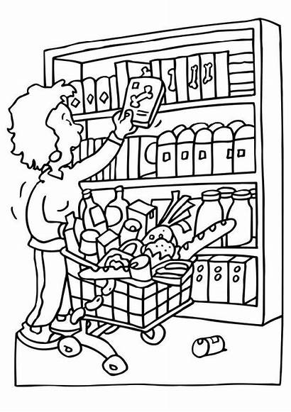 Coloring Shopping Pages Popular