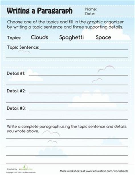 15 best images about 3rd grade writing worksheets on