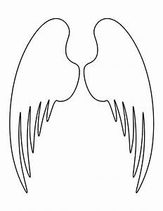 Angel wings pattern. Use the printable outline for crafts ...