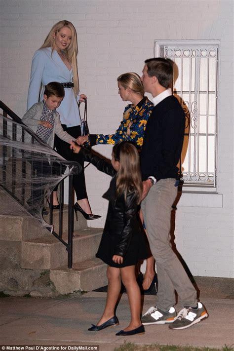 trump ivanka jared tiffany nephew niece daughter dress heels georgetown arabella joseph met law student eldest