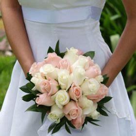 order bridal rose bouquets light pink  white roses