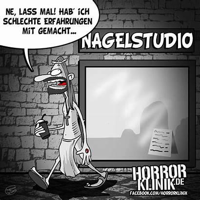 Humor Schwarzer Cartoon Schlechte Horrorklinik Erfahrungen Allmystery