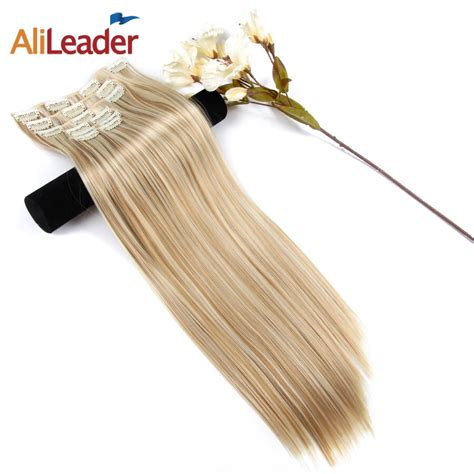 Alileader 22 Inches Long Straight Hair Extension 6 Pcsset