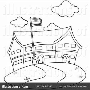 Black And White Elementary School Clipart - ClipartXtras