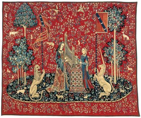 but housse de canapé la série de tapisserie la dame à la licorne gobelins tapis