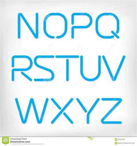 ensemble arrondi minimal moderne d alphabet de illustration stock image 61837584