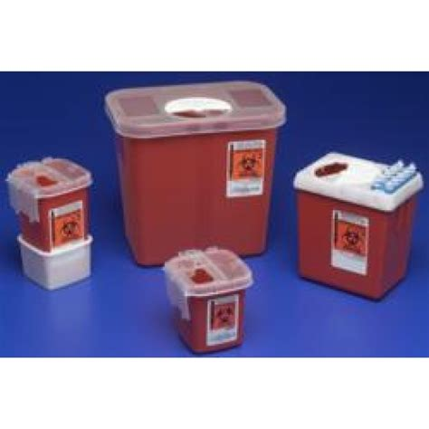 Covidien Phlebotomy Sharps Containers 1 Quart Red 8900SA ...