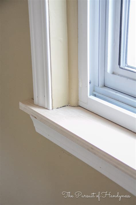 A Window Sill by Diy Window Sill And Trim My Recent Project