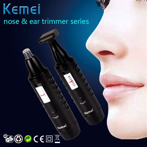 kemei groomer electric nose ear hair trimmer clipper men