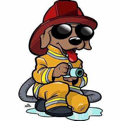 Firefighter Cartoon Clipart Dog Fireman Fire Fighter
